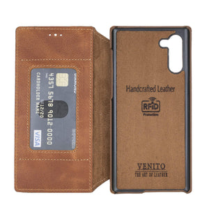 Venice RFID Blocking Leather Wallet Stand Case for Samsung Galaxy Note 10