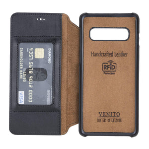 Venice RFID Blocking Leather Wallet Stand Case for Samsung Galaxy S10
