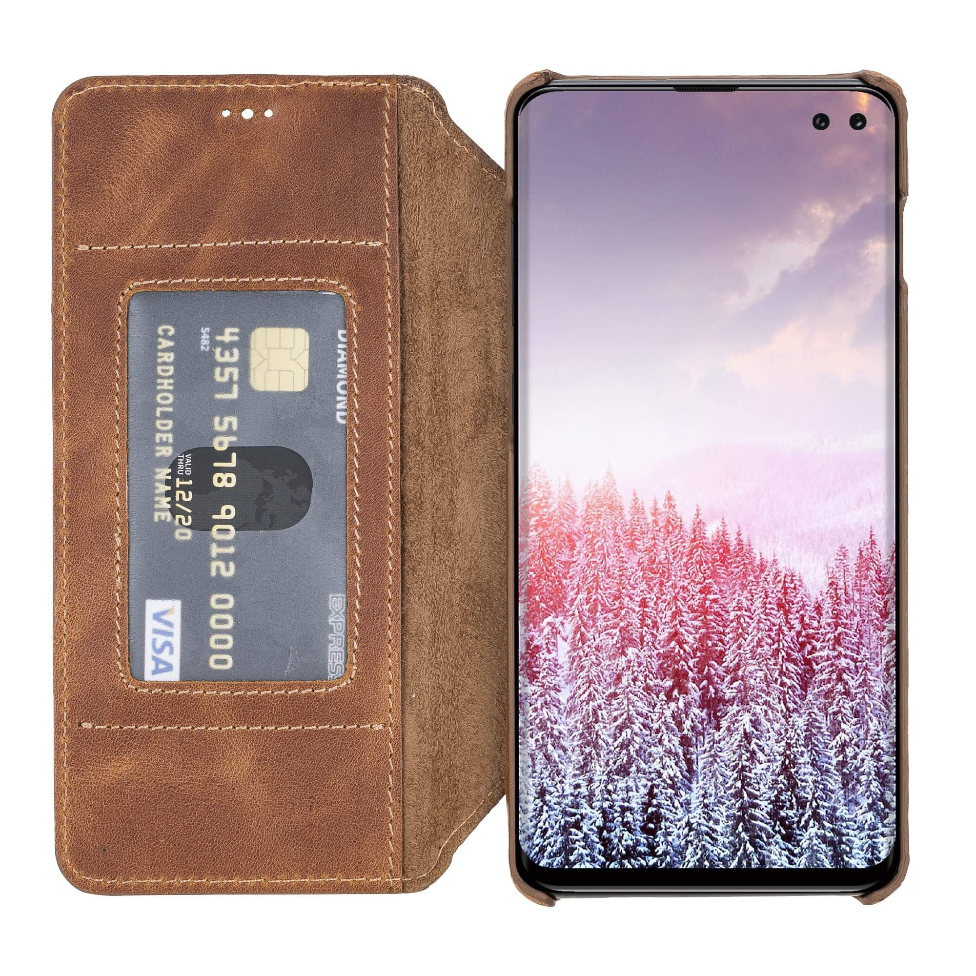 Venice RFID Blocking Leather Wallet Stand Case for Samsung Galaxy S10e