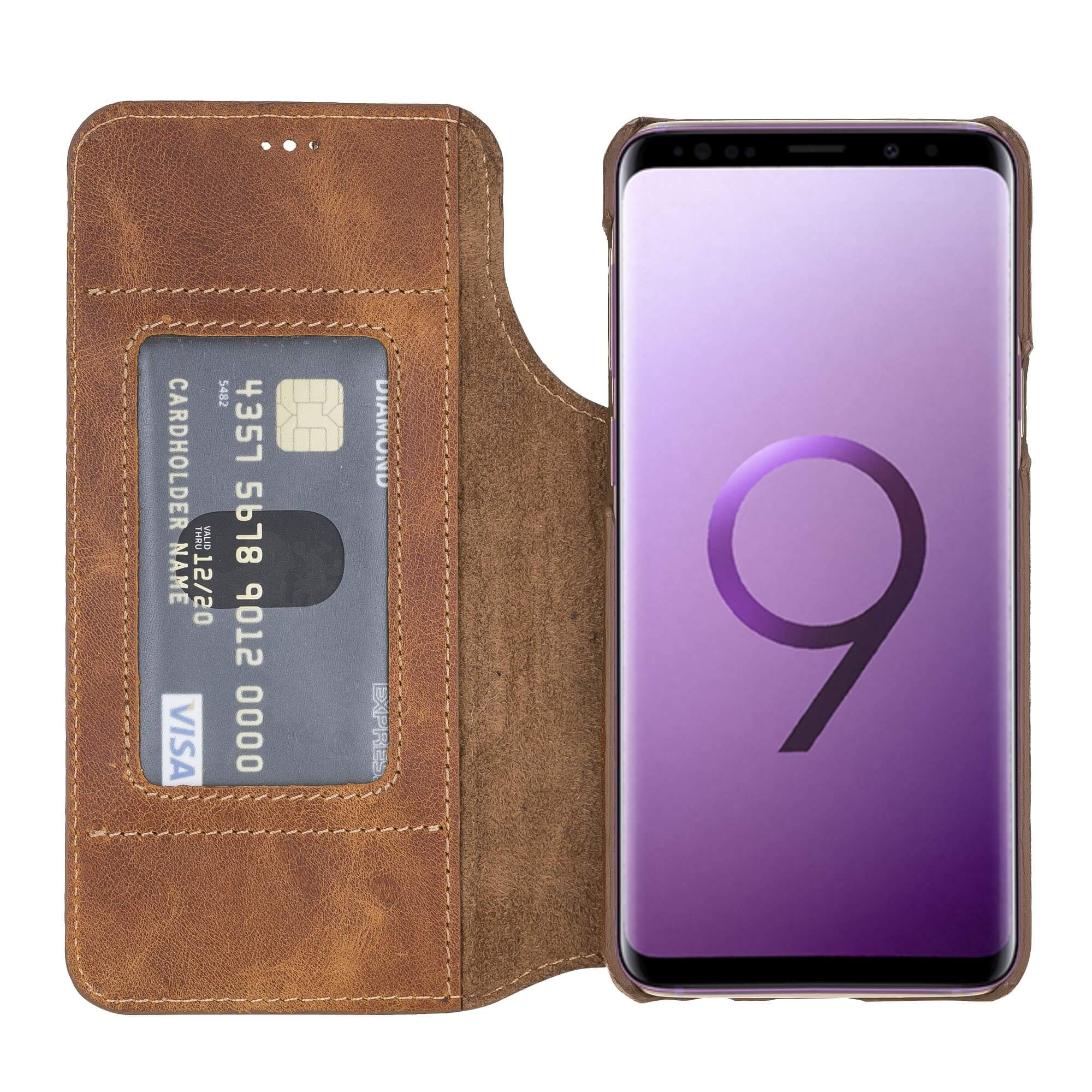 Venice RFID Blocking Leather Wallet Stand Case for Samsung Galaxy S9