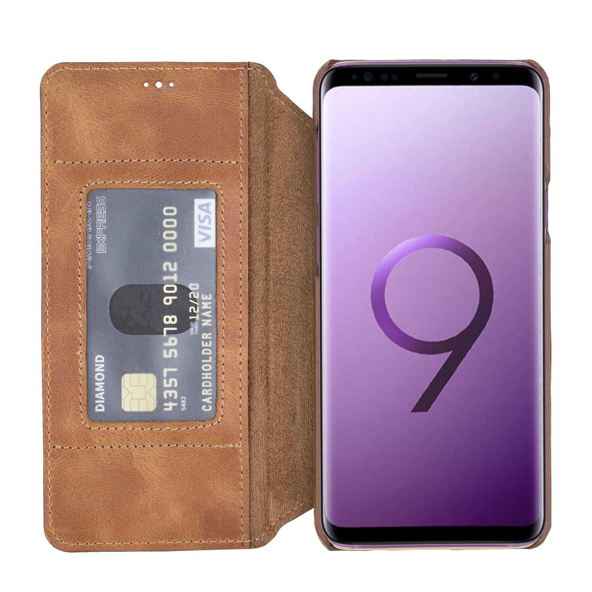 Venice RFID Blocking Leather Wallet Stand Case for Samsung Galaxy S9 Plus