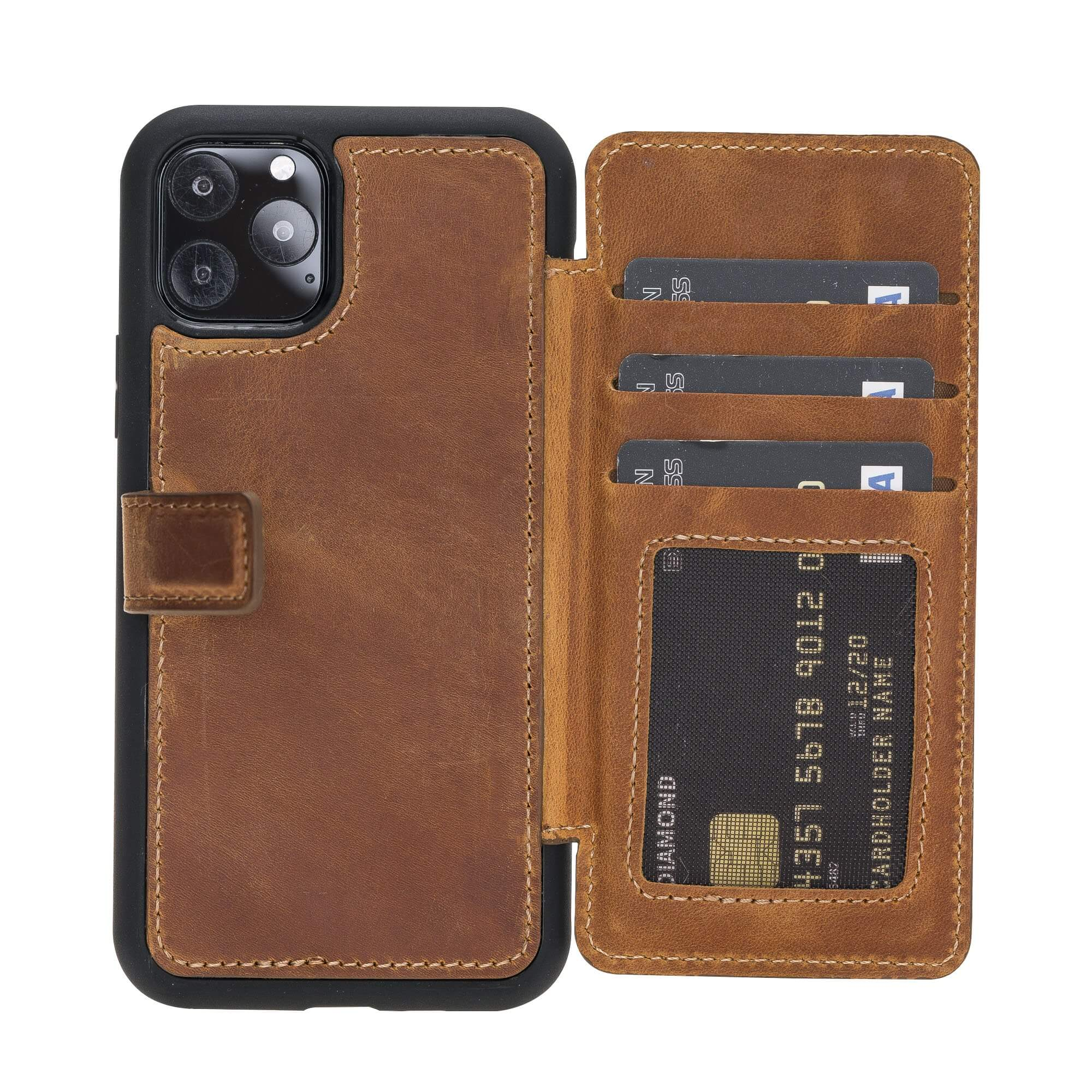 Verona RFID Blocking Leather Slim Wallet Case for iPhone 11 Pro