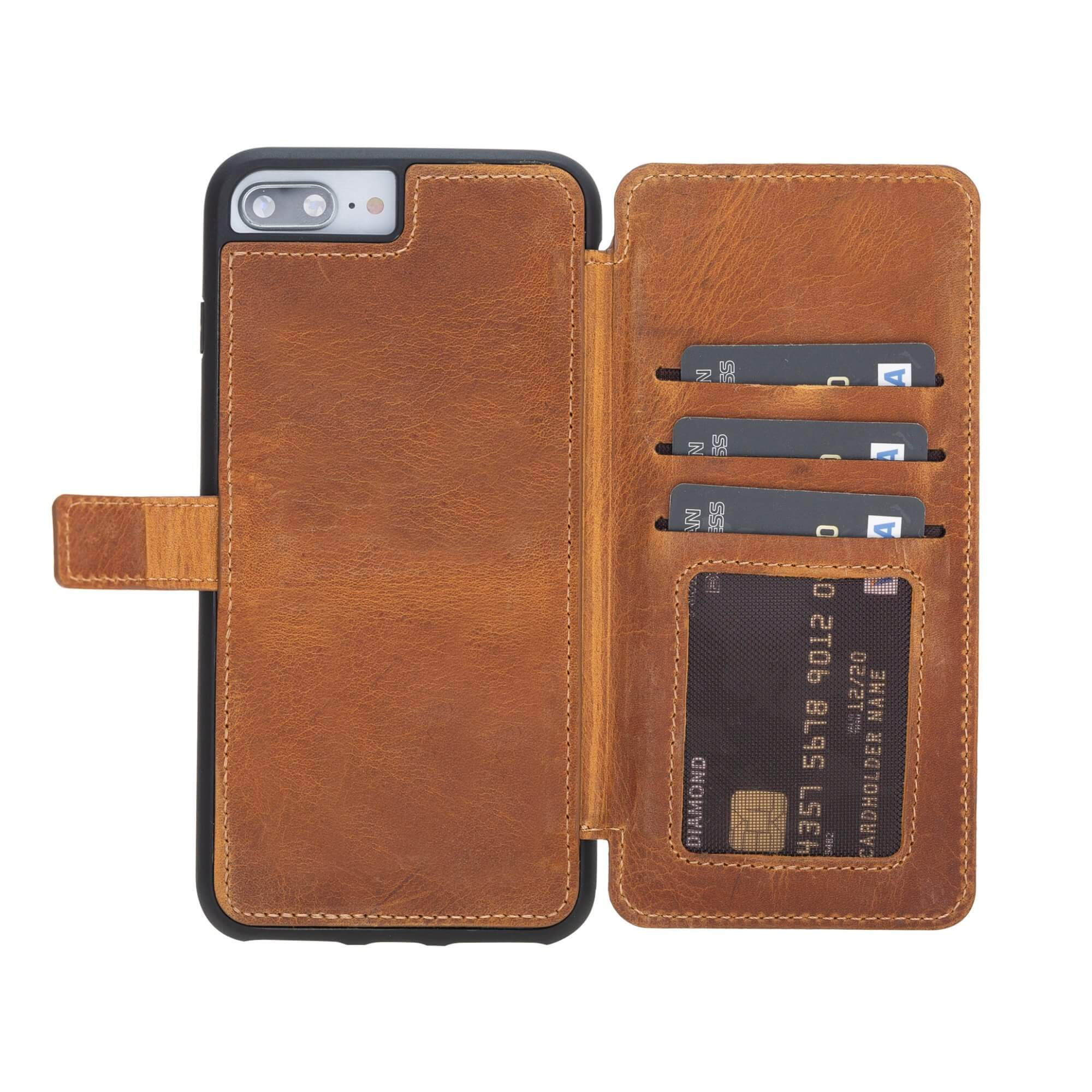 Verona RFID Blocking Leather Slim Wallet Case for iPhone 7 Plus