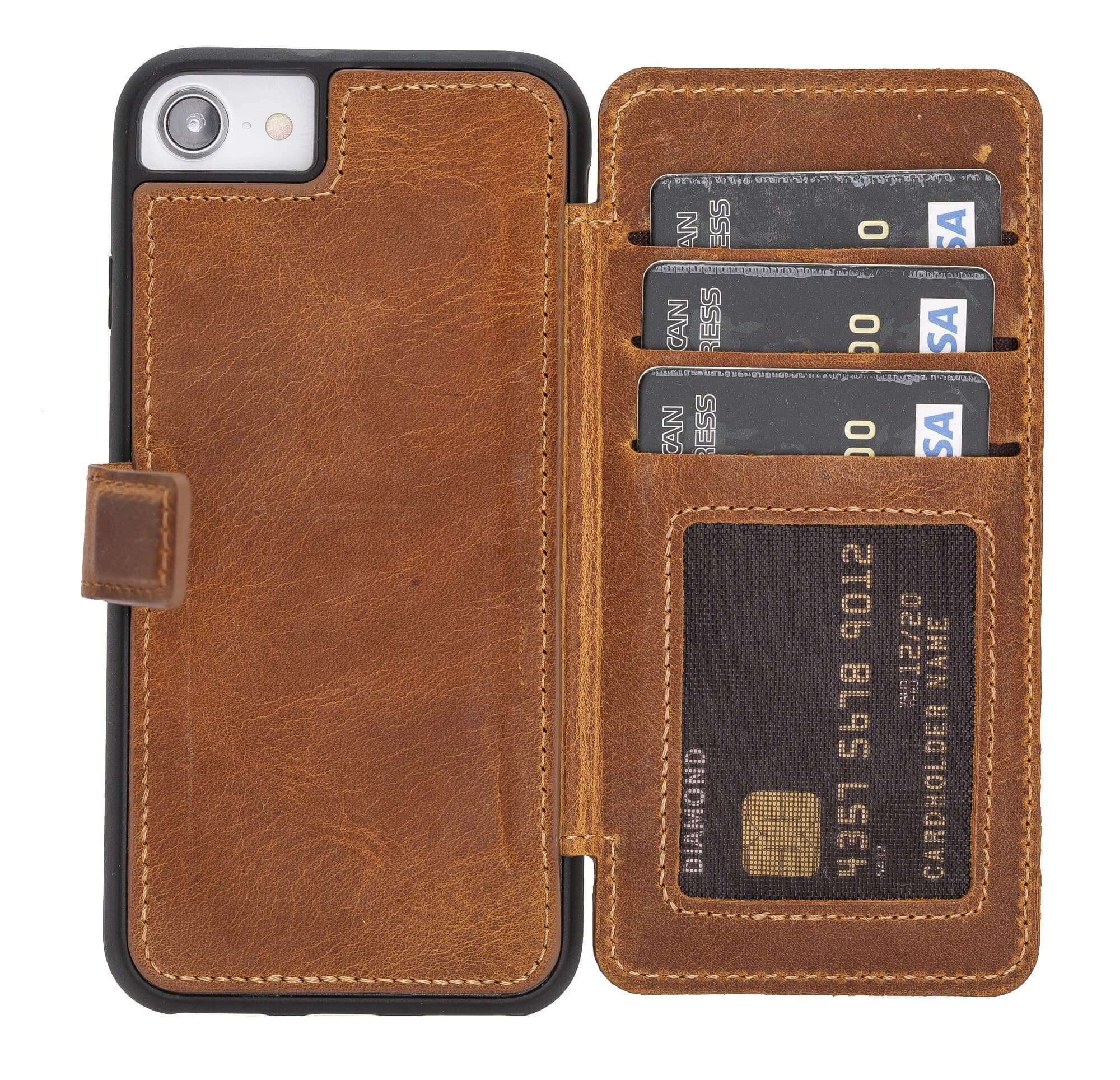 Verona RFID Blocking Leather Slim Wallet Case for iPhone 8