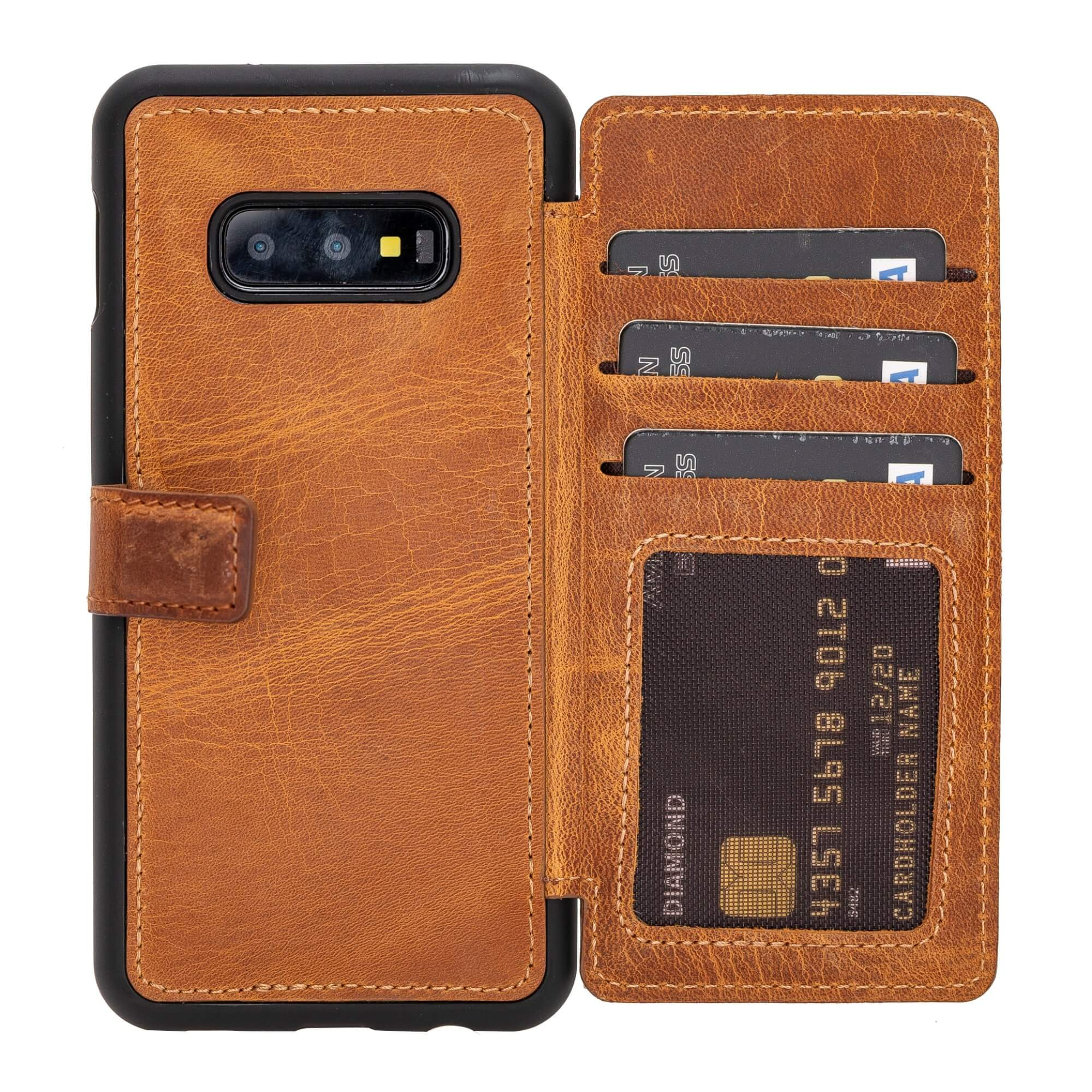 Verona RFID Blocking Leather Slim Wallet Case for Samsung Galaxy S10e