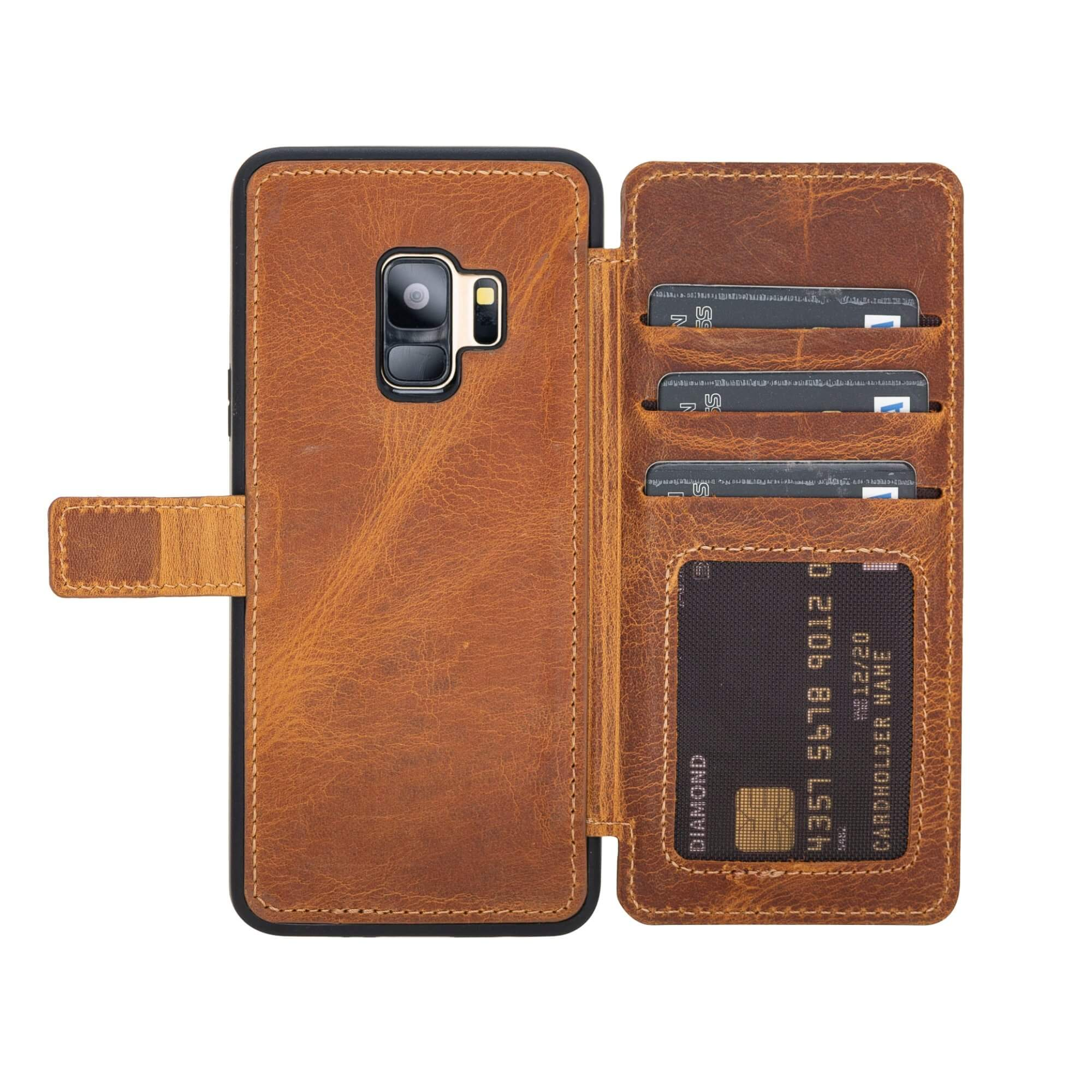 Verona RFID Blocking Leather Slim Wallet Case for Samsung Galaxy S9