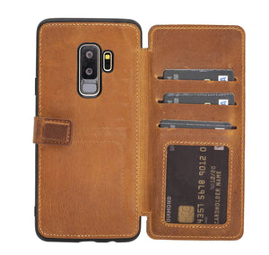 Verona RFID Blocking Leather Slim Wallet Case for Samsung Galaxy S9 Plus