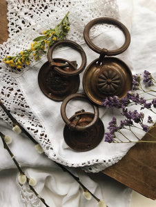 Three Vintage Circular Decorative Handles