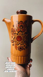 Retro 1960's Palissy Floral Coffee Pot