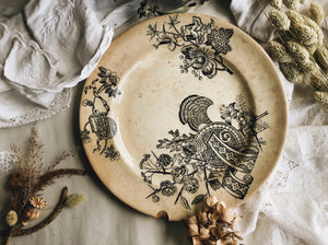 Antique 1800's French Transfer Plate