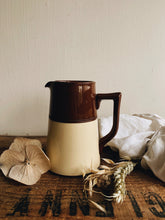 Load image into Gallery viewer, Vintage 1940's Gibson Two Tone Brown & Cream Jug with Detailing