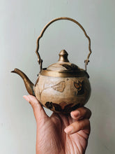 Load image into Gallery viewer, Vintage Brass Enamel Hand~painted Teapot