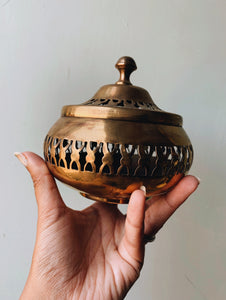 Vintage Brass Decorative Pot