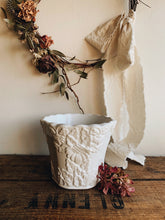 Load image into Gallery viewer, Vintage White Decorative Relief Planter