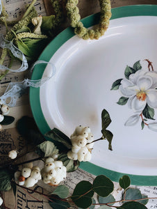 Vintage Large Woods & Sons Floral Platter Dish (UK Shipping only)