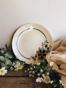 Vintage French Decorative Floral Plates ~ Digoin  (sold separately)
