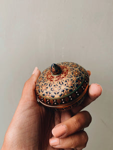 Vintage Hand-painted Thai Ceramic Pot with Lid