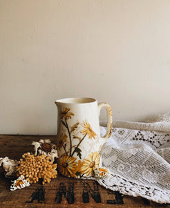 Antique Yellow Floral Jug