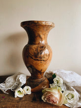Load image into Gallery viewer, Large Vintage Wooden Vase