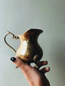 Antique Brass & Silver (plated) Milk Jug