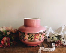 Load image into Gallery viewer, Vintage Art Deco Falcone Floral pink Vase
