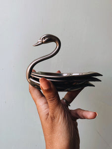 Vintage Swan Serving Holders / Dish