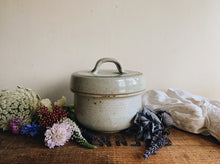 Load image into Gallery viewer, Vintage Blue / Grey Speckle Ceramic Pot with Lid