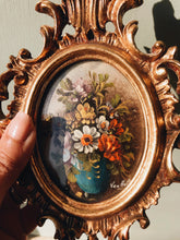 Load image into Gallery viewer, Antique French Rococo Signed Van Holt ~ Early 19th Century Floral Oil Painting