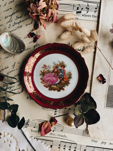 Vintage French Whimsy Narrative Plate