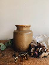 Load image into Gallery viewer, Vintage Large Cinnamon Brown Earth Ware Pot / Jar