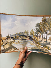 Load image into Gallery viewer, Vintage 1950's Impressionist Watercolour