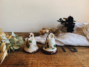 Two Vintage Ceramic Bells