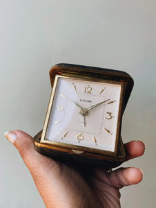 Vintage Europa Pocket Travel Clock (not in working order)