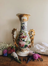Load image into Gallery viewer, Large Vintage Rose Rocco Vase