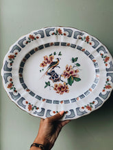 Load image into Gallery viewer, Large Antique Decorative Paradise Bird Serving Platter