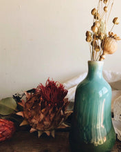 Load image into Gallery viewer, Vintage Green Posy Vase