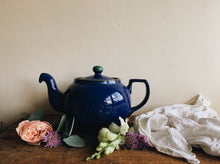 Load image into Gallery viewer, Vintage Blue & Green Ceramic Denby Metz Tea~pot
