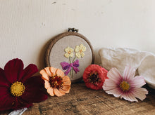 Load image into Gallery viewer, Vintage Floral Embroidery Hoop / Hanging