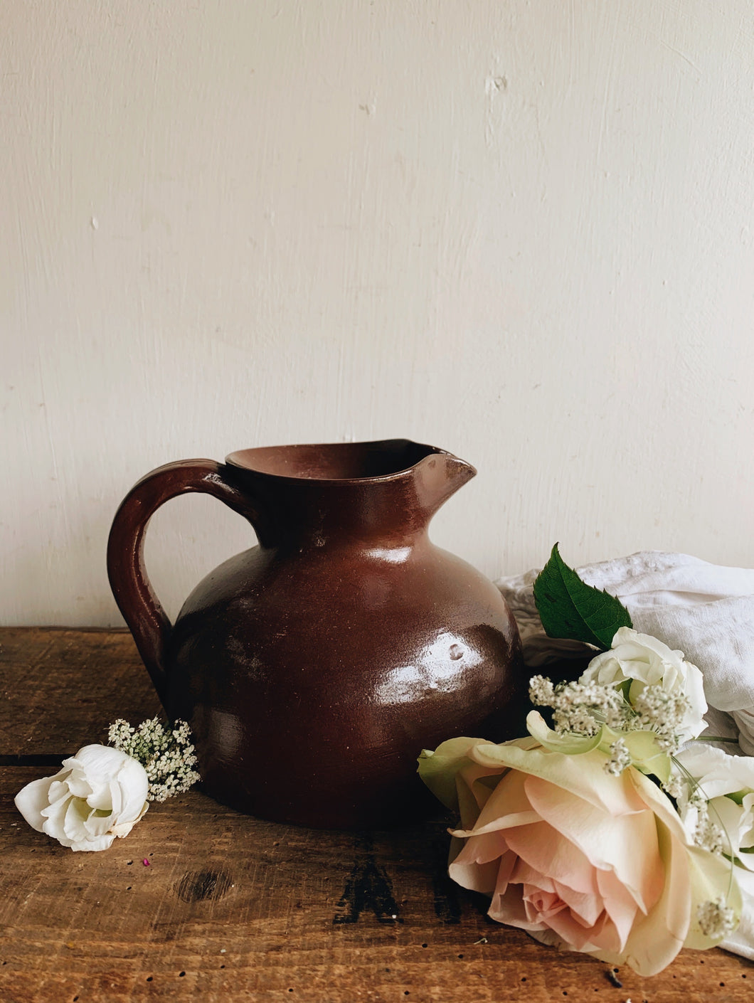 Vintage French Pottery Jug