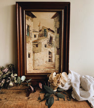 Load image into Gallery viewer, Rustic French (depicted town) Painting in Frame