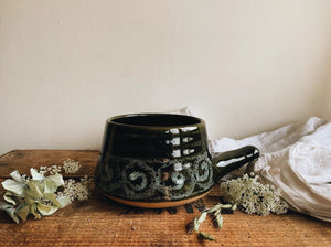 Vintage Hand~thrown Green Pot