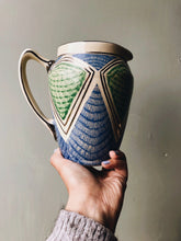 Load image into Gallery viewer, 1920s Art Deco Green & Blue Vase (jug)