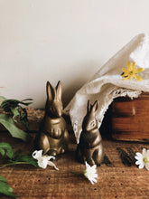 Load image into Gallery viewer, Vintage Brass Rabbits