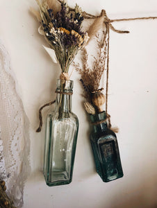 Two Antique Blue Bottles