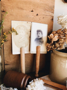 Two Antique Photos (pegs not included)