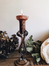 Load image into Gallery viewer, Purple Marble Glass Candlestick