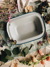 Load image into Gallery viewer, Vintage Blue Enamel Dish
