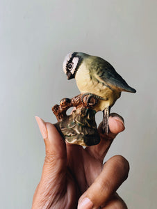 Vintage Beswick Blue Tit Bird Ornament