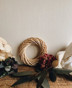 Rustic Wicker / Rattan Wreaths ~ two sizes available
