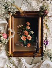 Load image into Gallery viewer, Vintage Rossi Pink Blooms Oil Painting